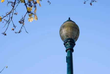 streetlight pointing to the sky