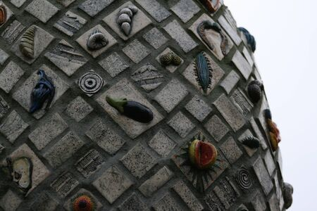 eugene: ceramic tile sculpture