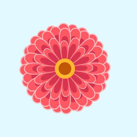 organic flower flat design vector ilustration