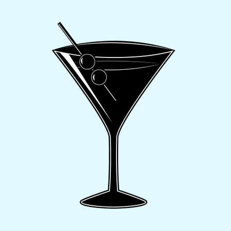 pictogram party cocktail vector ilustration Vector Illustratie