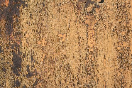 Peeling paint rusting metal rough texture. background of peeling paint and rusty old metal