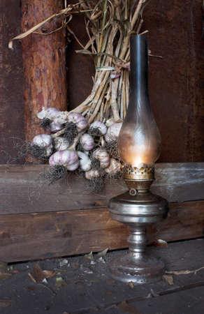 kerosene lamp in the inter of the barn Stock Photo - 11746911