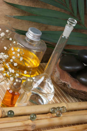 still-life subjects of relaxing spa treatments photo