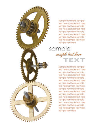 escapement: Gear of the clock isolated on white background