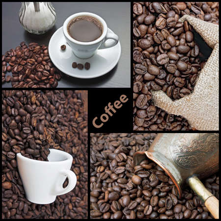 coffee maker is in the coffee beans photo
