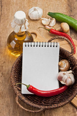 bottle of sunflower oil and vegetables in a country style Stock Photo - 12162135