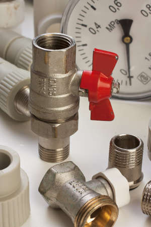 Plumbing fixtures and piping parts photo