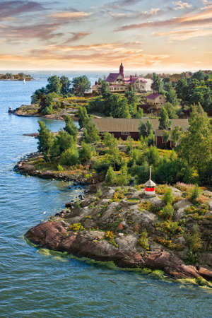 Islands in the Baltic Sea near Helsinki in Finland Standard-Bild