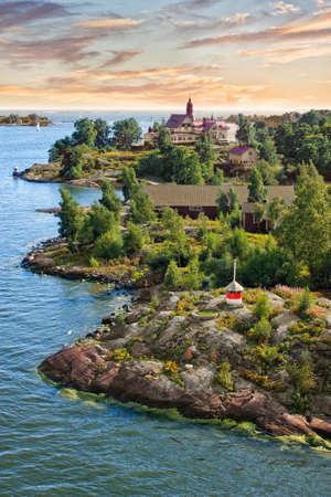 baltic: Islands in the Baltic Sea near Helsinki in Finland Stock Photo