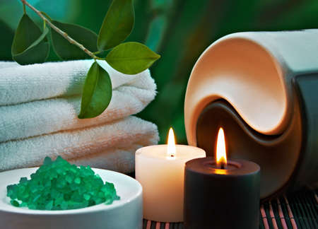 Herramientas y accesorios para tratamientos de spa y relajación Foto de archivo - 12661156