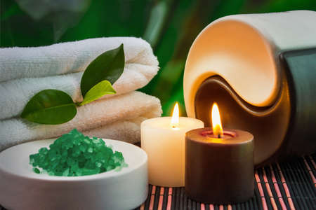 tools and accessories for spa treatments and relaxation Zdjęcie Seryjne
