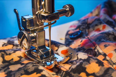 sewing machine and item of clothing photo