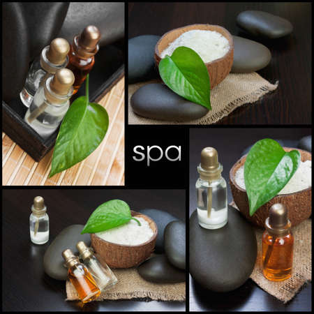 still-life subjects of relaxing spa treatments Stock Photo