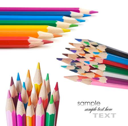 Pencils isolated on white background photo