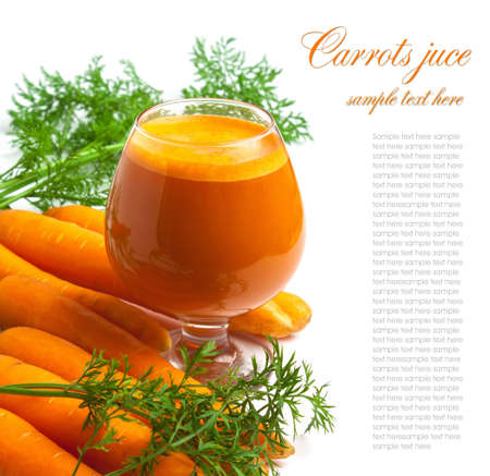 carrots and carrot juice in a glass Stock Photo - 13229665
