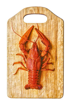 the red lobster on a cutting board photo