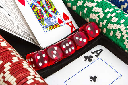 items from the casino for gambling games Stock Photo - 14052138
