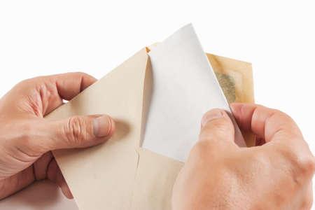 Erhalten Sie isoliert auf weißem Hintergrund Standard-Bild