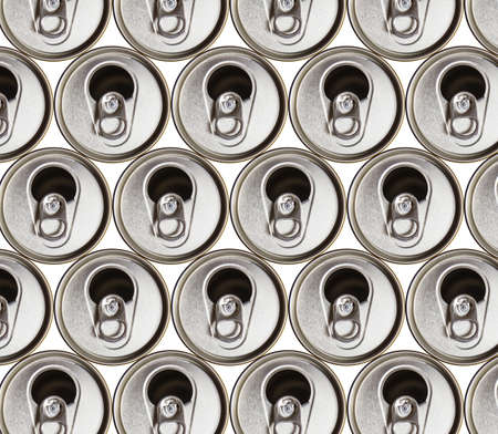 metal beer cans isolated on white background photo