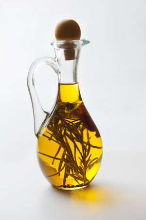 liquids: Vegetable oil with spices in a jug