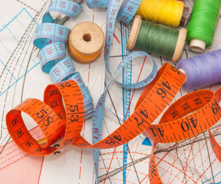 Sewing on the background pattern photo