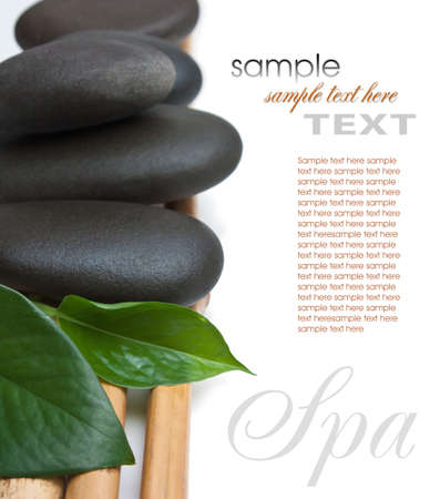 massage spa: spa stone isolated on a white background