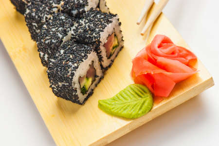 Japanese sushi on the board