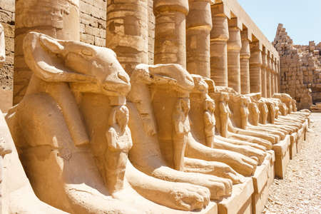 past civilizations: Ancient ruins of Karnak temple in Egypt in the summer of 2012