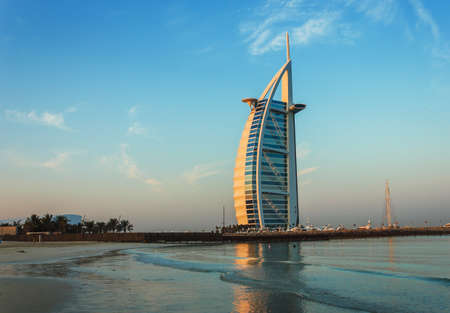 DUBAI, UAE - NOVEMBER 15: Burj Al Arab hotel on Nov 15, 2012 in Dubai. Burj Al Arab is a luxury 7 stars hotel built  in front of Jumeirah beach. Editorial