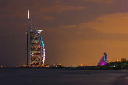 DUBAI, UAE - NOVEMBER 17: Burj Al Arab hotel on Nov 17, 2012 in Dubai. Burj Al Arab is a luxury 7 stars hotel built  in front of Jumeirah beach.