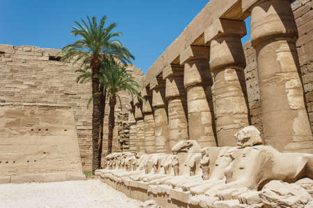 Ancient ruins of Karnak temple in Egypt in the summer of 2012 photo