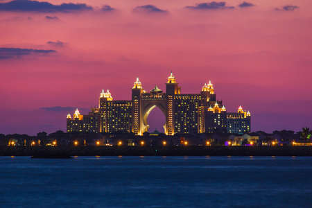 DUBAI, UAE - NOVEMBER 17: Atlantis Hotel  in Dubai. UAE. November 17, 2012. The newly opened multi-million dollar Atlantis Resort, Hotel & Theme Park at the Palm Jumeirah Island in Dubai