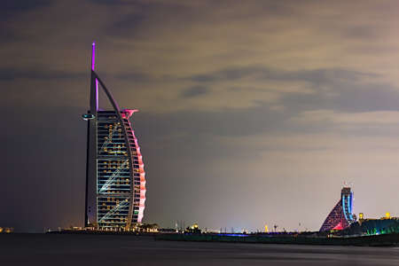 DUBAI, UAE - NOVEMBER 17: Burj Al Arab hotel on Nov 17, 2012 in Dubai. Burj Al Arab is a luxury 7 stars hotel built  in front of Jumeirah beach.