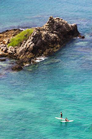 Small island in the sea near Phuket in Thailand