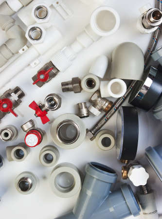 collet: Plumbing fixtures and piping parts Stock Photo