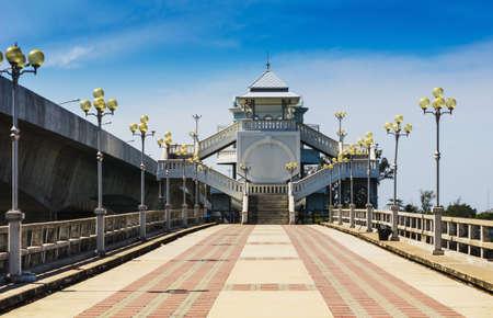 mainland: The Sarasin Bridge was built in 1970 to connect Phuket Island to mainland Thailand.