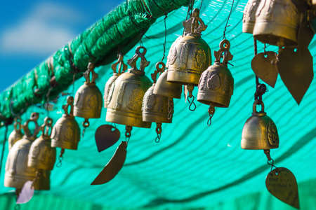 marmorate: tradition asian bell in Big Buddha temple complex, Thailand, Phuket