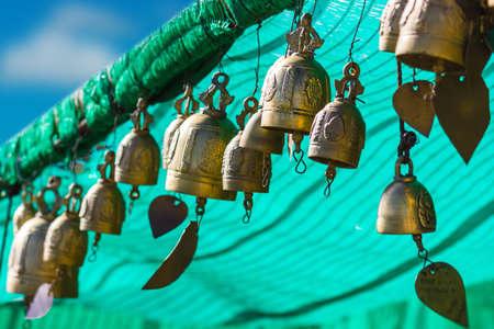 marmorate: tradizione campana asiatico in Big Buddha complesso del tempio, Thailandia, Phuket