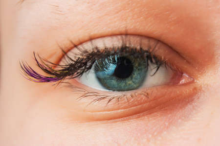 eyes close up: Womens Open eyes from close up Stock Photo