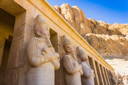 thebes:  the Memorial Temple of Hatshepsut . Luxor, Egypt, 2012 year Stock Photo