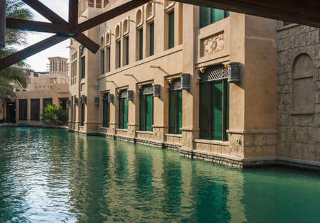 windtower: DUBAI, UAE - NOVEMBER 15: View of the  Souk Madinat Jumeirah. Nov 15, 2012 in Dubai