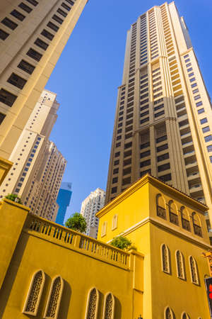 DUBAI, UAE - NOVEMBER 13: High rise buildings and streets nov 13. 2012  in Dubai, UAE. Dubai was the fastest developing city in the world between 2002 and 2008.