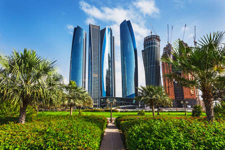 dhabi: Skyscrapers in Abu Dhabi, United Arab Emirates