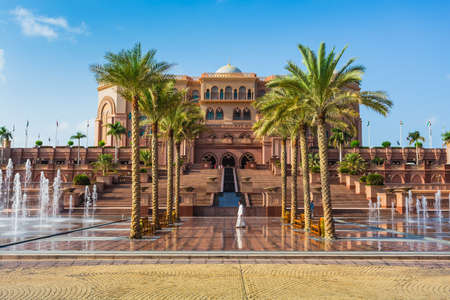 DUBAI - NOVEMBER 5: Emirates Palace in Abu Dhabi on November 5, 2013 in Dubai. Emirates Palace was originally conceived as a venue for government summits and conferences in the Persian Gulf Editorial