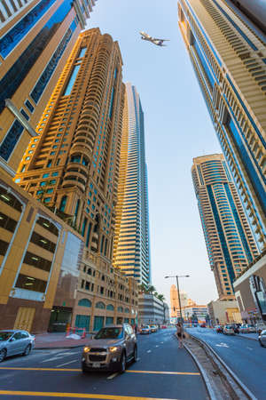 DUBAI, UAE - NOVEMBER 3: Dubai Marina. UAE. November 3, 2013. Dubai was the fastest developing city in the world between 2002 and 2008.