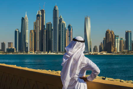 DUBAI, UAE - NOVEMBER 7: Dubai Marina. UAE. November 7, 2013. Dubai was the fastest developing city in the world between 2002 and 2008.
