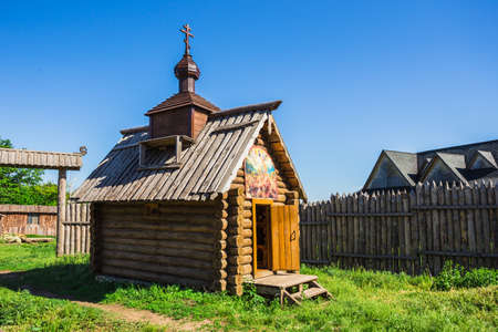 The wooden house in a countryside in Russia