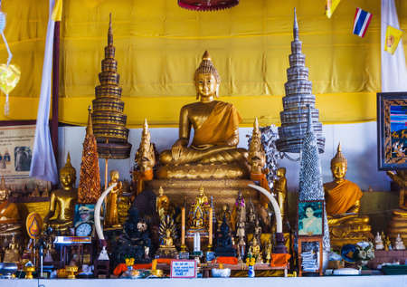 marmorate: PHUKET, THAILAND - FEBRUARY 14: Big Buddha temple complex, on February 14, 2013. The construction is made only on donations.