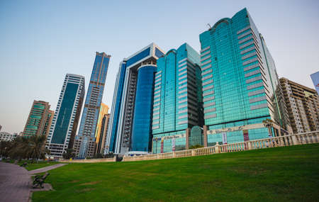 industrialized: SHARJAH, UAE - OCTOBER 28: Sharjah - third largest and most populous city in United Arab Emirates, on October 28, 2013.  It is the most industrialized emirate in UAE.