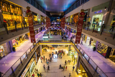 mall of the emirates: DUBAI, UAE - OCTOBER 31: Worlds largest shopping mall based on total area and sixth largest by gross leasable area, October 31, 2013 in Dubai, UAE
